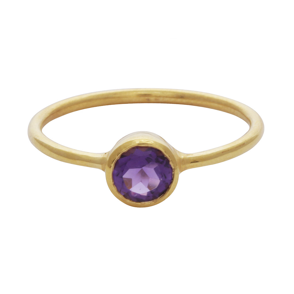 Amethyst round stacking ring