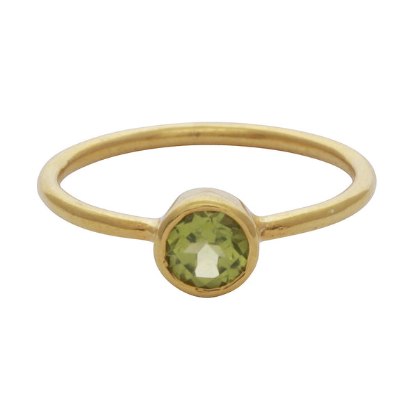 Peridot round stacking ring