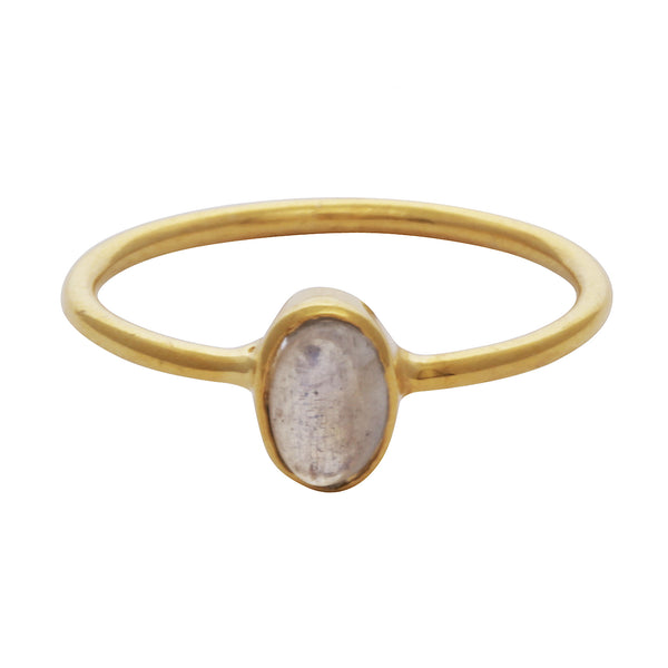 Labradorite oval stacking ring