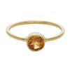 Citrine round stacking ring