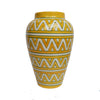 Yellow geometric vase