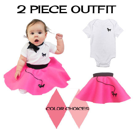 Infant 2 pc - 50's Poodle Skirt Outfit