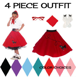Child 4 pc - 50's Poodle Skirt Outfit