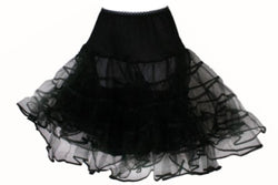 Child/Toddler Black - 50's Crinoline Petticoat Slip
