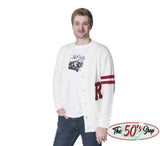Retro Letterman Cardigan Sweater