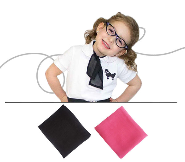 Toddler - 50's Sheer Chiffon Square Scarf