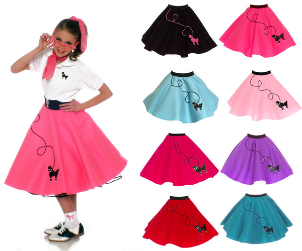 10-12 yrs Large Child - 50's Poodle Skirt