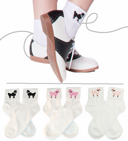Adult - 50's Bobby Socks w/ Poodle
