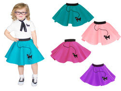 1-3 yrs Toddler - 50's Poodle Skirt