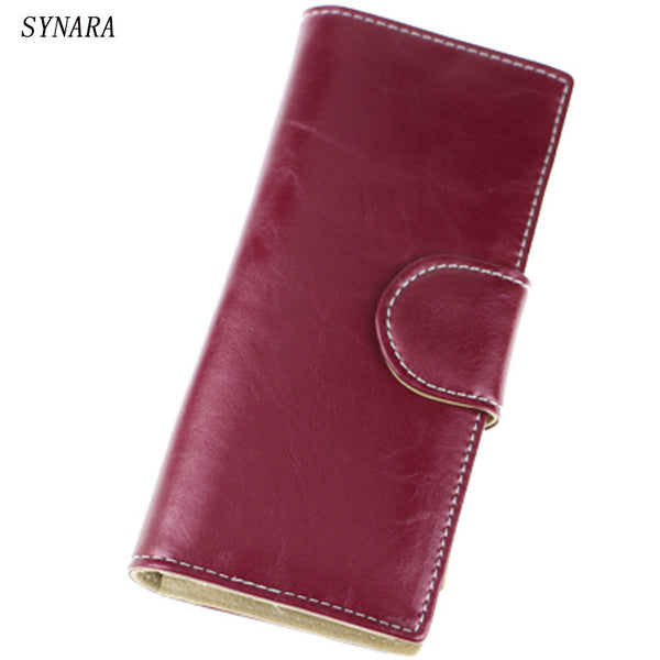 2016 new design fashion multifunctional purse genuine leather wallet women long style cowhide - New uses for the multifunctional spray ...