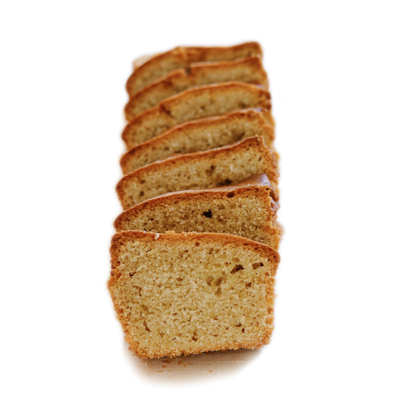 Naked Vanilla Pound Cake - Unsliced