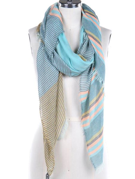 Striped Lightweight Spring/Summer Scarves