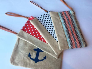 Burlap & Canvas Anything Bags/Clutch