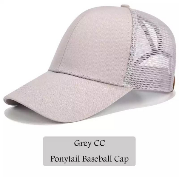 C.C. High Ponytail Baseball Style Hats (Adult/One Size)