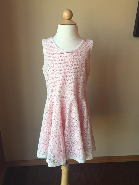 Pre-Loved Girls Like New Lily Bleu Lace Dress, size 6X