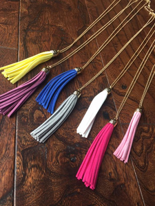 Suede-Like Tassel Pendant Necklaces *CLEARANCE*