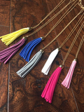 Suede-Like Tassel Pendant Necklaces