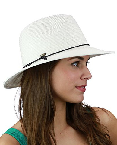 C.C Brimmed Panama Sunhat W/Braided Cord (Adult/One Size) Multiple Colors!