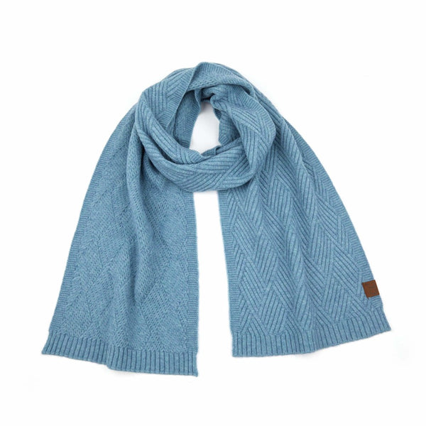 CC Geometric Heathered Knit Scarves (3 colors)