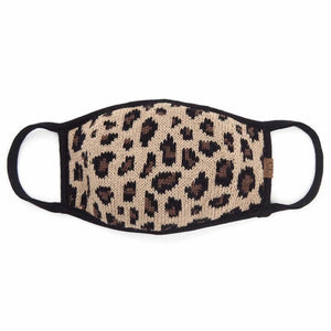 *ADULT* CC Leopard Knit Reusable Face Masks