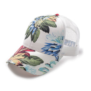 C.C. Tropical Print Trucker Style Hats (Adult/One Size)