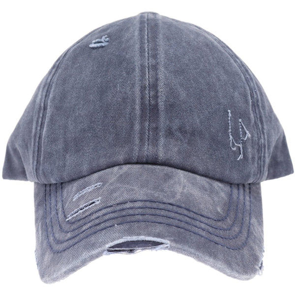 *PRE-ORDER* CC Criss-Cross Washed Denim Caps LOADS OF COLORS