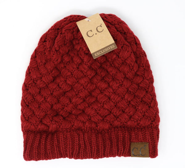 C.C. Basket Weave Beanies (Adult/One Size)
