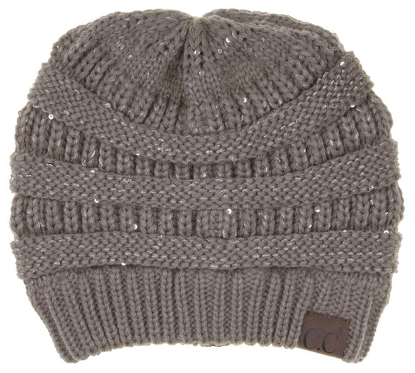 C.C Elegant Sequin Beanie (Adult/One Size)