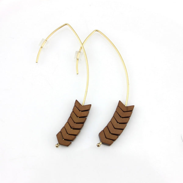 Chevron Hook Earrings