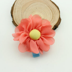 Multi-Tone Chiffon Flower Hair Clips