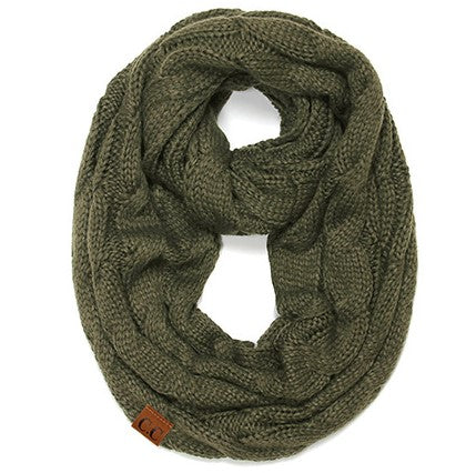 C.C. Inspired Cable Knit Infinity Scarves *CLEARANCE*
