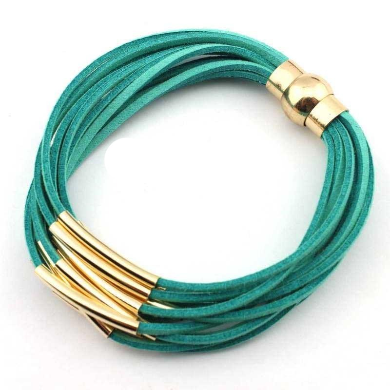 Faux Suede Strappy Magnetic Bracelets. Lot's of Colors!