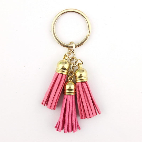Faux Leather Tassel Key Chains *CLEARANCE*