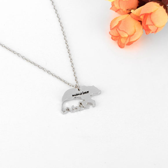 Mama Bear Hollow Cub Necklace