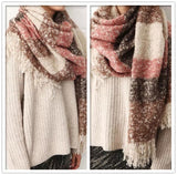Super Soft Mohair Striped Textured Scarves