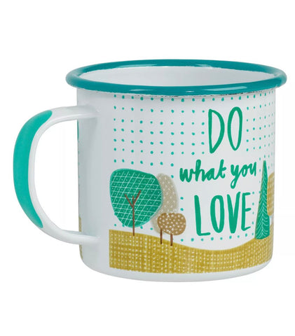 "Enamel Cup Mug ""Do What You Love"""