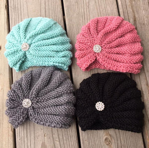 New Boutique Baby Rhinestone Beanies *CLEARANCE*