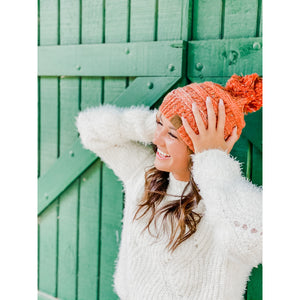 C.C Ombre Flecked Pom Beanie (Adult/One Size) Several Colors.