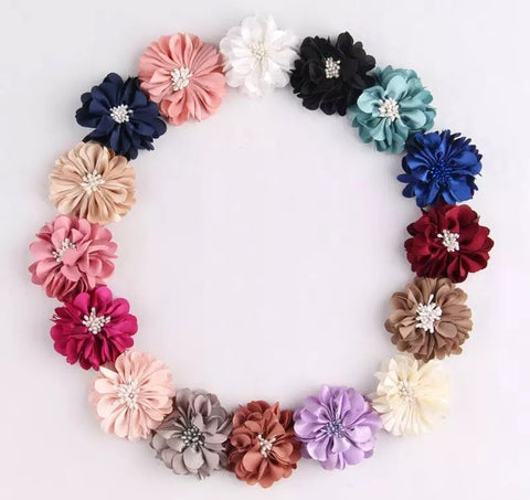 Silk Flower Hair Clips