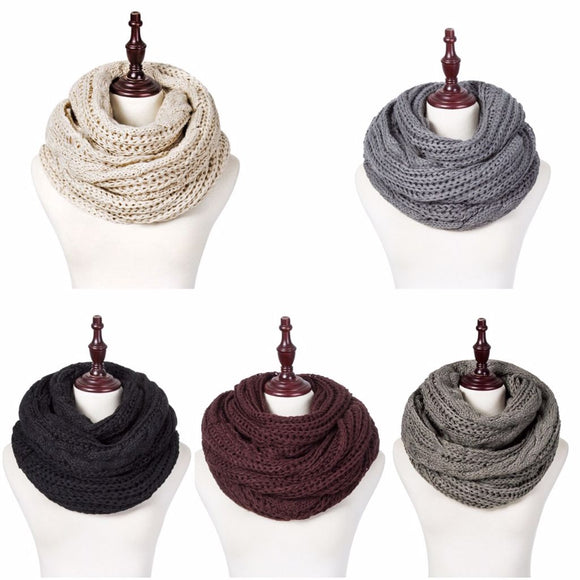 C.C Inspired Loose Knit Soft Lightweight Infinity Scarves *CLEARANCE*