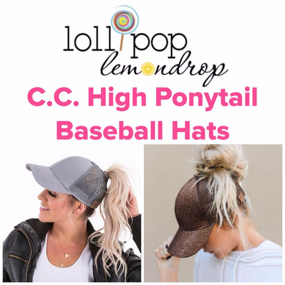 C.C. High Ponytail Baseball Style Hats