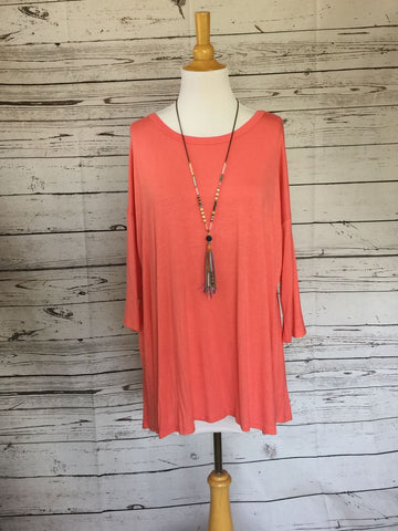 SAMPLE SALE! NEW Women's Boutique Criss Cross Tunic Size XL