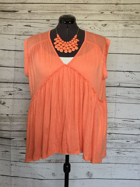 SAMPLE SALE! Plus Size A-Line Swing Top, size 1XL