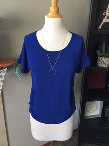 Pre-Loved Women's Vivace Royal Blue Blouse, S