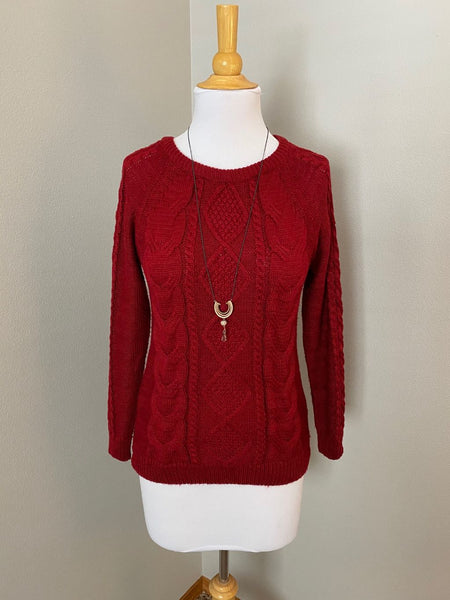 Pre-Loved Cable knit sweater, size small