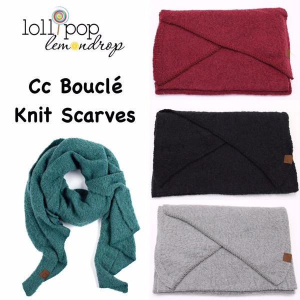 C.C Solid Boucle Knit Scarf