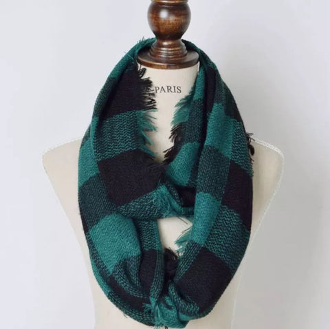 Buffalo Check Plaid Infinity Scarf
