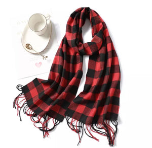 Buffalo Check Traditional Cashmere Scarf