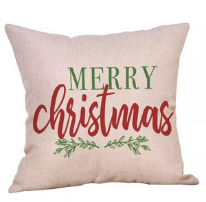 "Merry Christmas Pillow Cover 18""x18"" *CLEARANCE*"
