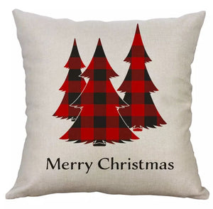 "Buffalo Check Trees Christmas Pillow Cover 18""x18"" *CLEARANCE*"